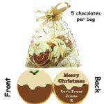 Personalised Xmas Gift Belgian Chocolates Xmas Pudding